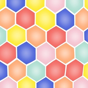 Summery Hexagons - ROTATED/EXTRA LARGE