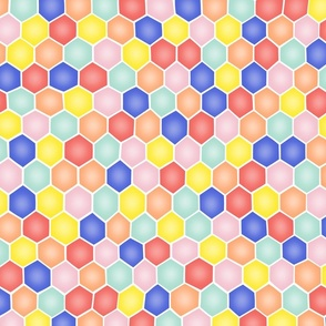 Summery Hexagons - ROTATED/SMALL