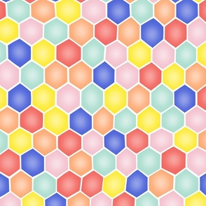 Summery Hexagons - ROTATED/MEDIUM