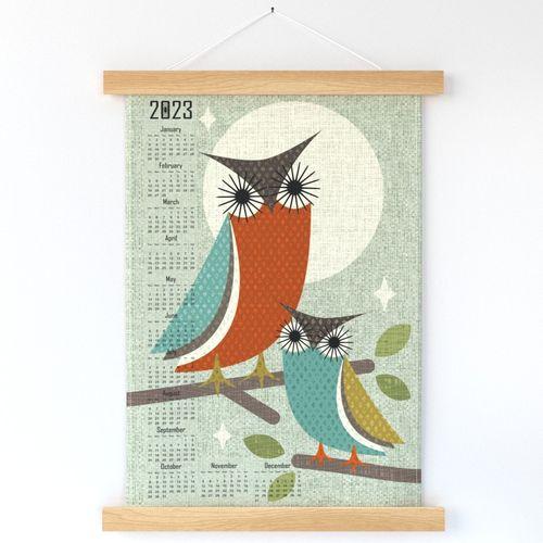 Owls in Moonlight 2022 Calendar