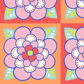 Summer Colored Flower 2 - JUMBO
