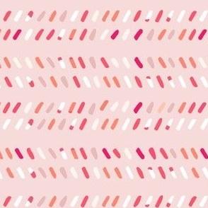 Pink Chevron Specks