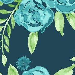 JUMBO- Blue Roses Bouquet