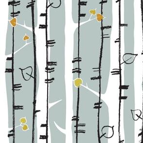 birch stripe - dusk
