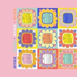 2022 Calendar: Fun Colored Floral