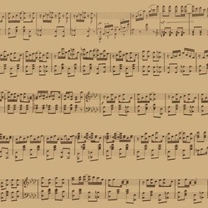 seamless maple leaf rag (antique, with occasional clef and key notations)