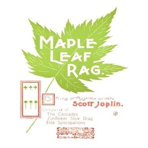 "maple leaf rag - original music cover page 12"" panel, bright"