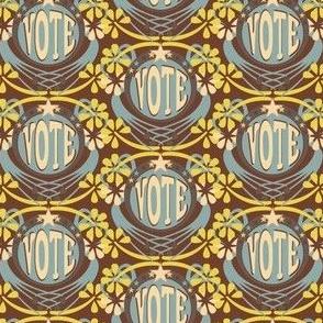 Vote! - Blue/Yellow/Cocoa