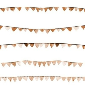 Earthy watercolor flags - birthday party banner - bunting decoration for celebration - bunt fun i831-11