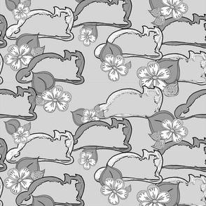 cats _ flowers of joy 4 gray