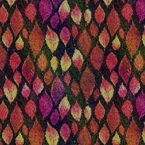 medium knit autumn leaves orange purple sunset PSMGE