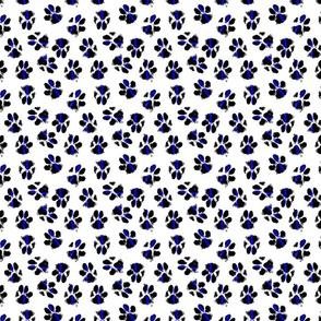 police dog paws on white micro