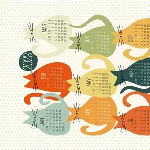cat calendar - vintage 2022 calendar - milo cat