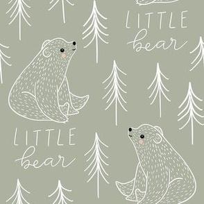 Cute bear trees woodland LARGE