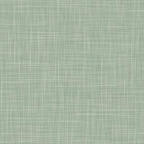 Linen Solid - DustySage (Cream Overlay) (TulipDamask)