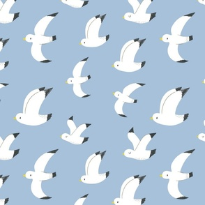 "Seagulls in flight 12"""
