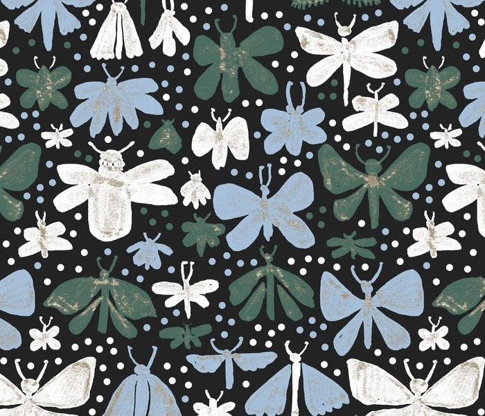 Lepidoptera_Black, Sky blue, Green and White