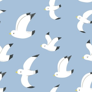 "Seagulls in flight 18"""