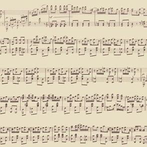 seamless maple leaf rag sheet music on beige