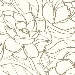 Gardenia Garden // MUSHROOM BROWN