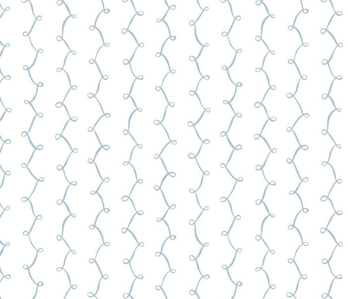 ribbon loop stripes in sky blue