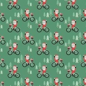 Santa Bike Ride - Green, Small Scale