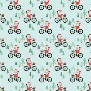 Santa Bike Ride - Blue, Small Scale