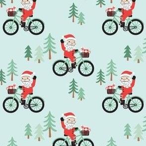 Santa Bike Ride - Blue, Medium Scale