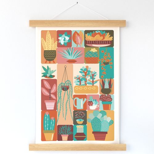 Potted Love Tea Towel-Wall Hanging-Distant Dunes Palette