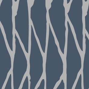 Triangle - Hand-Drawn  Geometric - Slate Blue and Grey - Large Scale