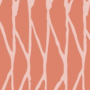 Triangle - Hand-Drawn  Geometric - Coral - Large Scale