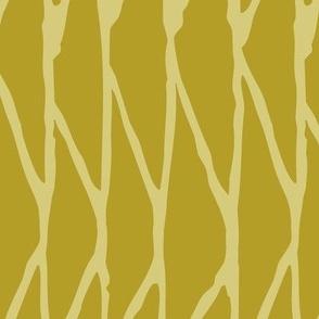 Triangle - Hand-Drawn  Geometric - Mustard - Large Scale