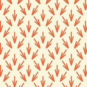 Stamen orange on white