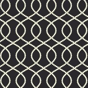 Friller white on black
