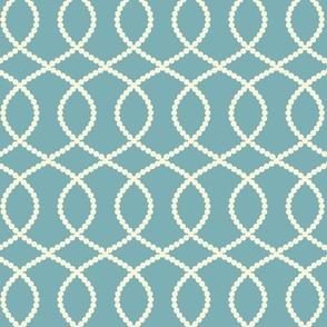 Friller white on blue