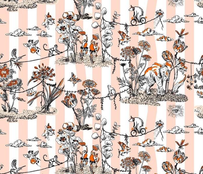 Whimsical Jungle Festival white tangerine