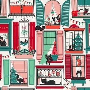 Urban Jungle Christmas Cat // SMALL
