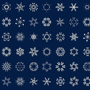musical snowflakes on navy