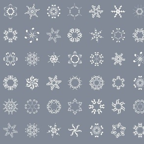 musical snowflakes on grey
