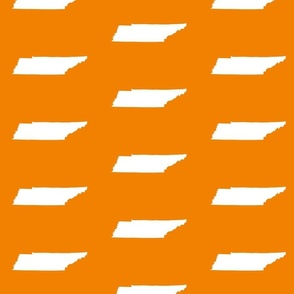 "Tennessee silhouette - 4x6"" panels, white on football orange"