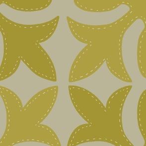 Hawaiian Quilt Golden Large