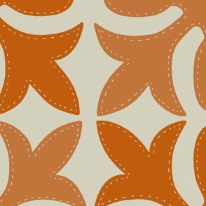 Hawaiian Quilt Orange