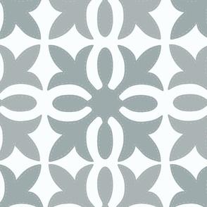 Hawaiian Quilt gray and white