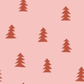 Christmas Tree Small Scale - Pink and brown
