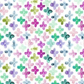 lucky bloom - watercolor simple florals - painted pretty wild flowers a148-6