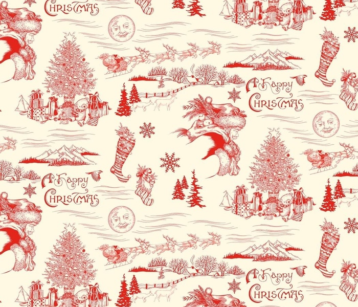 A Happy Christmas Holiday Toile