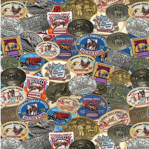 heston collage buckles and patches