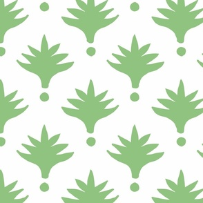 Extra LArge Spring Green Palm Print copy