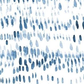 Indigo boho brush stroke vibes - watercolor abstract paint pattern - modern scandi texture ikat a556 -12