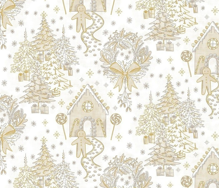 Golden Memories Holiday Toile // Small